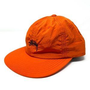 STUSSY Stock Nylon Strapback Cap Orange